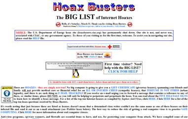 Hoax Busters