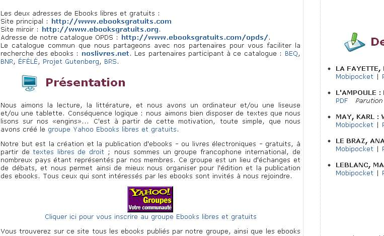 Ebooks libres & gratuits